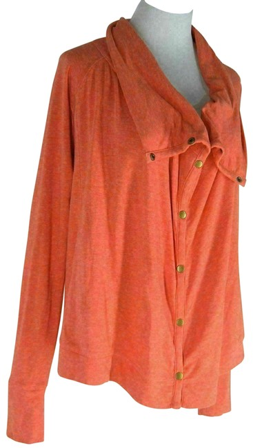 Item - Orange Snap Front Activewear Outerwear Size 6 (S)