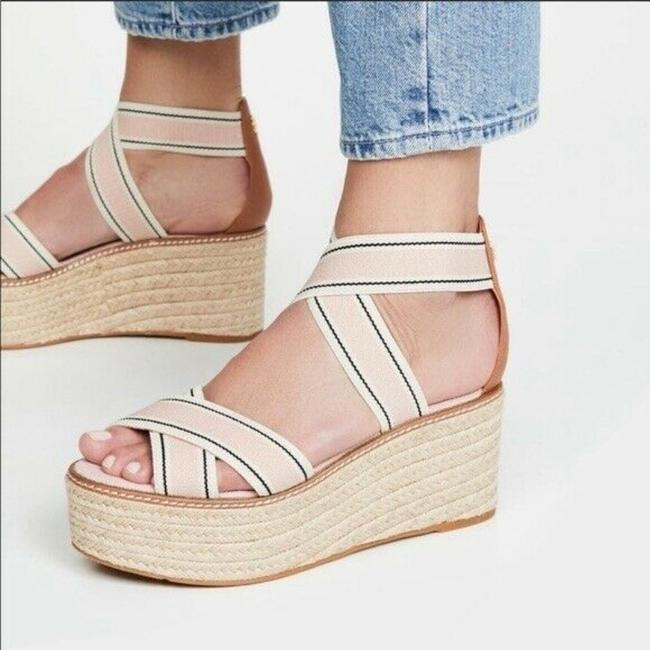 Item - Pink Blush White Frieda Espadrille Platform Heels Sandals Wedges Size US 7.5 Regular (M, B)