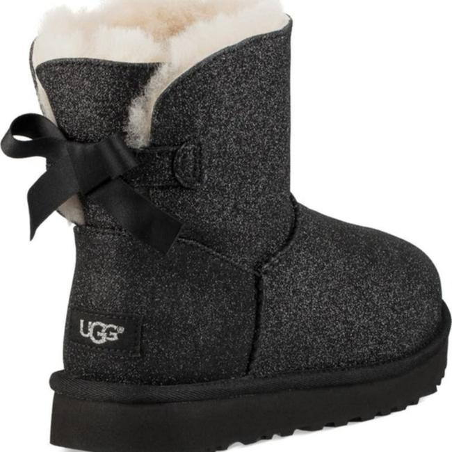 Item - Black Mini Bailey Bow Sparkle Genuine Shearling Boots/Booties Size US 5 Regular (M, B)