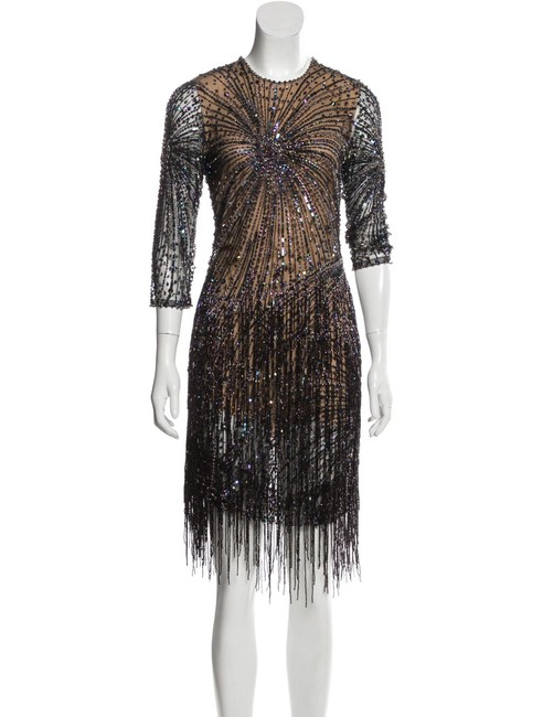 Item - Brown 6 Sequined Short Night Out Dress Size 10 (M)