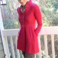 Anthropologie Raspberry Red Alice In Autumn Sweater M By Charlie & Robin Coat Size 8 (M) Anthropologie Raspberry Red Alice In Autumn Sweater M By Charlie & Robin Coat Size 8 (M) Image 3
