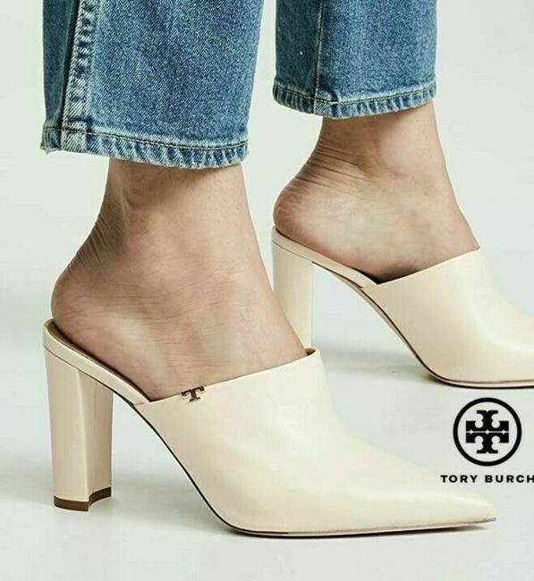 Item - Beige Penelope 90mm Heels Pointed Toe Leather Mules/Slides Size US 8 Regular (M, B)