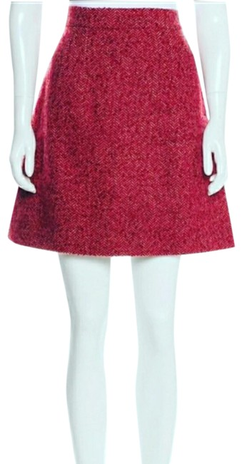 Item - Red F4v67t Skirt Size 10 (M, 31)