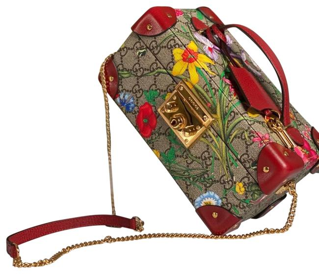 Item - Padlock Gg Flora Case Limited Edition New Floral- Multicolored Polyurethane Cross Body Bag