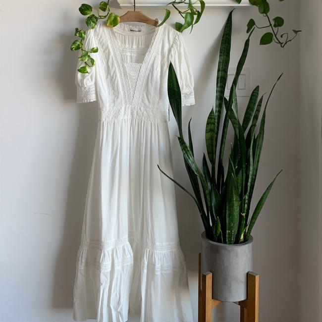 Reformation Ivory Betsie Mid-length Casual Maxi Dress Size 0 (XS) Reformation Ivory Betsie Mid-length Casual Maxi Dress Size 0 (XS) Image 12