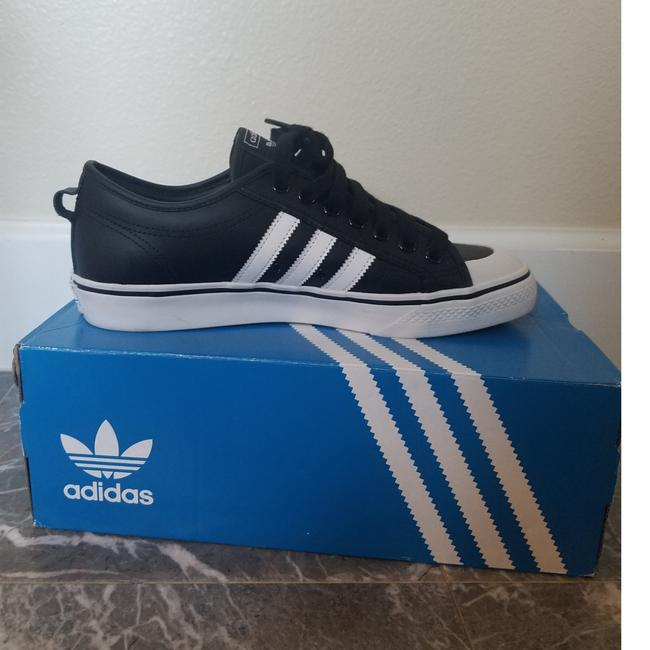 """Item - Nizza Black White Classic Casual Shoes Ee7207. Leather. Condition Is """"Pre-owned"""". Ee7207 Sneakers Size EU 42.5 (Approx. US 12.5) Regular (M, B)"""