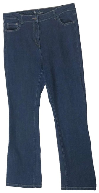 Item - Dark Blue Rinse Boot Cut Jeans Size 12 (L, 32, 33)