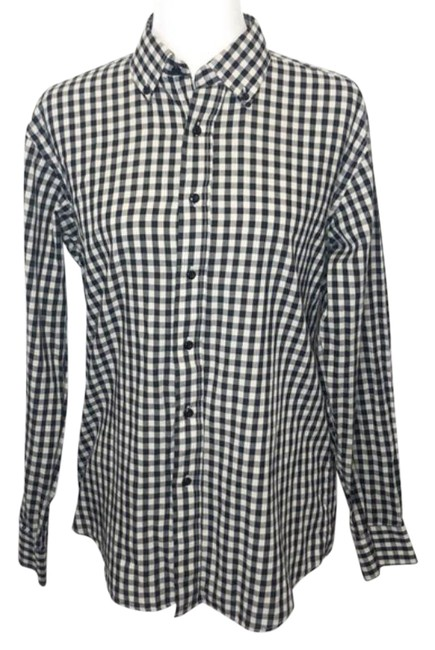 Item - Black Checked Gingham Shirt Button-down Top Size 12 (L)