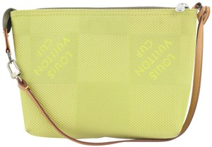 Item - Accessoires Pochette Ultra Rare Lv Cup Lime Wristlet 7lvs113 Green Damier Geant Canvas Shoulder Bag