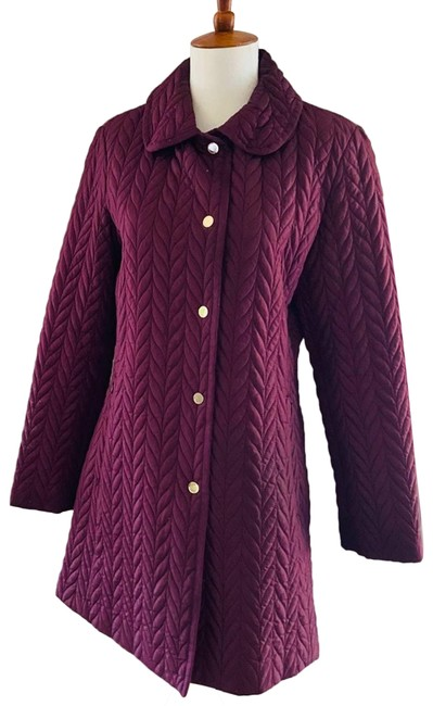 Item - Purple Quilted Snap Button Jacket Eggplant Winter Coat Size 4 (S)