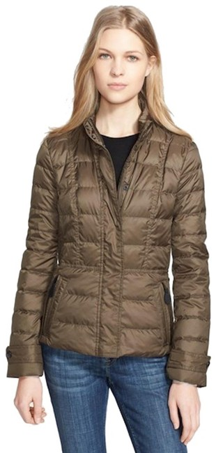 Item - Olive Womens Quilted Puffer Down Jacket Coat Size 4 (S)