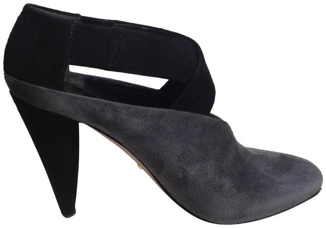 Item - Grey/ Black Two Tone Suede Leather Boots/Booties Size EU 36.5 (Approx. US 6.5) Regular (M, B)