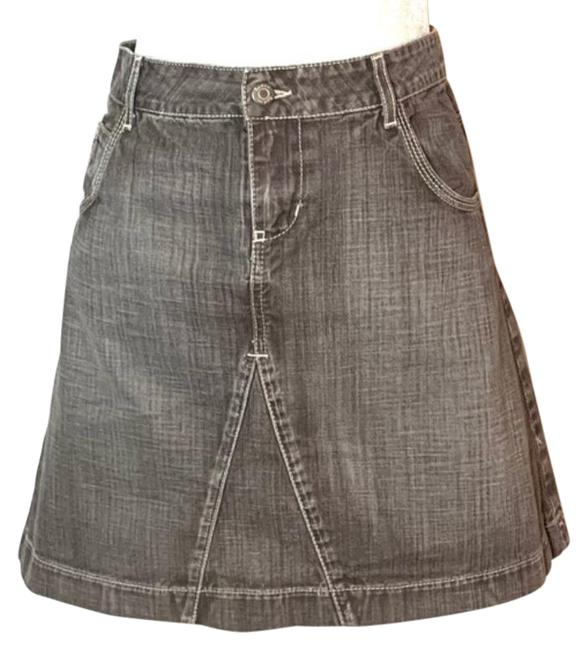 Item - Gray Denim Jean Skirt Size 12 (L, 32, 33)
