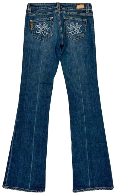 Item - Blue Dark Rinse Laurel Canyon Embellished Boot Cut Jeans Size 2 (XS, 26)