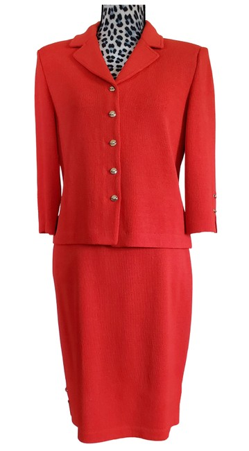 Item - Coral Orange Collection By Marie Gray Skirt Suit Size 6 (S)