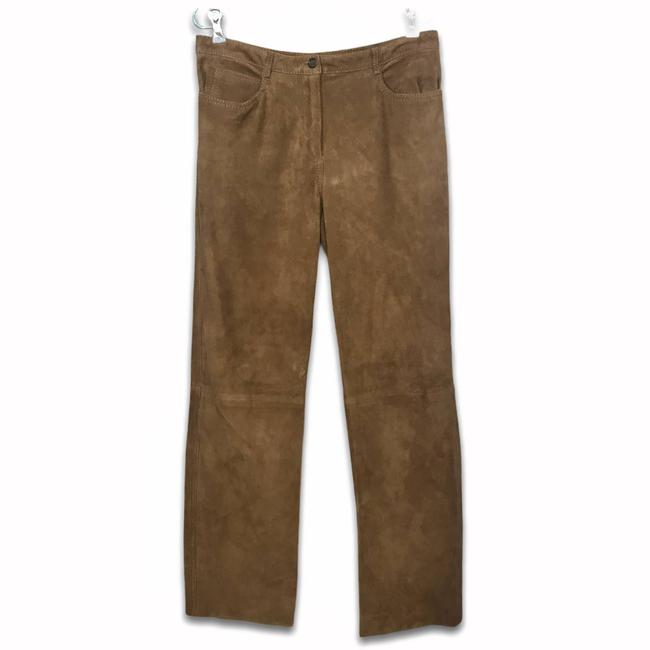 Item - Brown Suede Leather Straight Leg Jeans Size 32 (8, M)