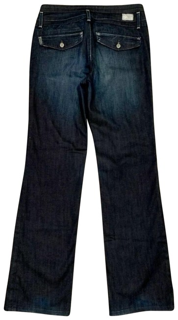 Item - Blue Coated Foothill Flap Pocket Dark Wash Trouser/Wide Leg Jeans Size 4 (S, 27)
