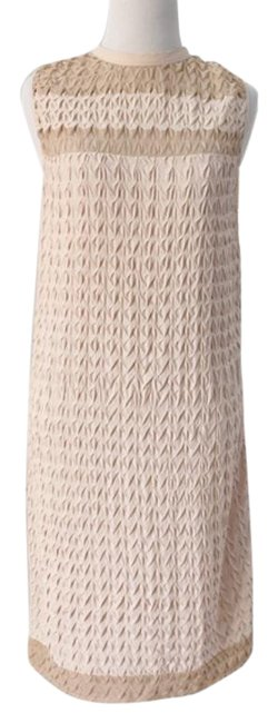Item - Cream Dayo Nude Mid-length Short Casual Dress Size 6 (S)