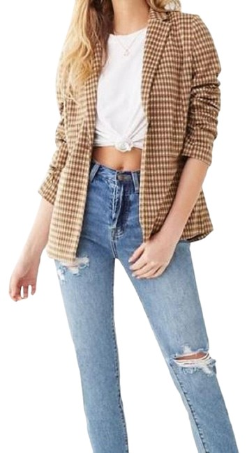 Item - Brown New - Women's Houndstooth Blazer Size 12 (L)