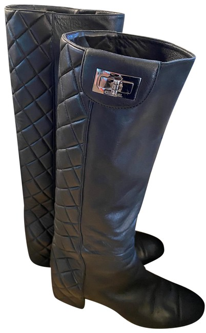 Item - Black 2.55 Reissue Turn-lock Quilted Boots/Booties Size EU 37.5 (Approx. US 7.5) Regular (M, B)