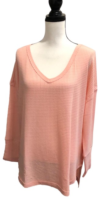Item - Waffle Knit Thermal Pink Sweater