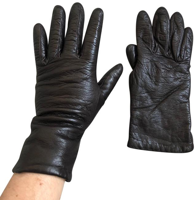 Item - Brown Cashmere Lined Leather Gloves