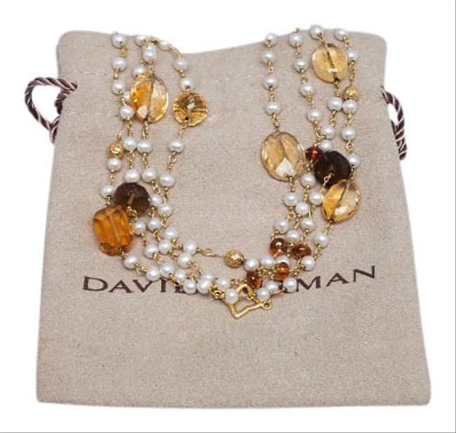 Item - Multi Color 18k Beaded Pearl Necklace