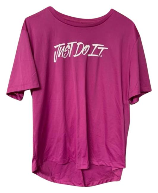 Item - Pink Dri Fit- Just Do It Activewear Top Size 8 (M)