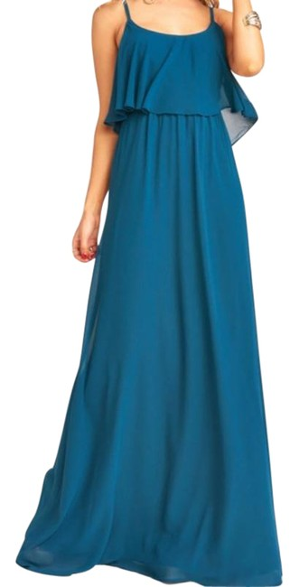 Item - Green Caitlyn Ruffle Maxi Long Formal Dress Size 4 (S)