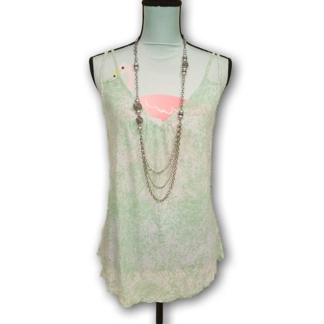 Item - Green L Plunging Ruffled V Neckline Double Strap Mint Tank Top/Cami Size 12 (L)
