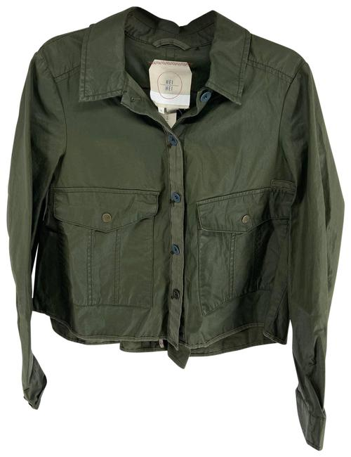 Item - Green Hei Hei Army Button Field Womens Xsmall Jacket Size 2 (XS)