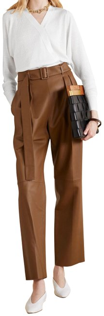 Item - Brown Lamb Leather Belted Pants Size 8 (M, 29, 30)