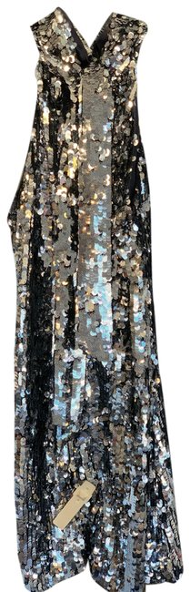 Item - Silver Metallic 38 Mid-length Night Out Dress Size 6 (S)