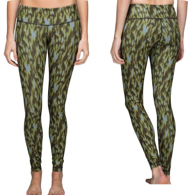 Item - Green and Brown Wunder Under Full-on Luxtreme Leggings Size 8 (M, 29, 30)