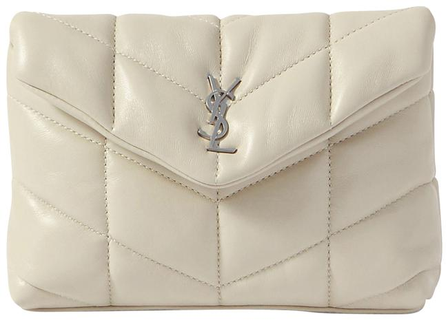 Item - Monogram Loulou Puffer Small Quilted White Leather Clutch