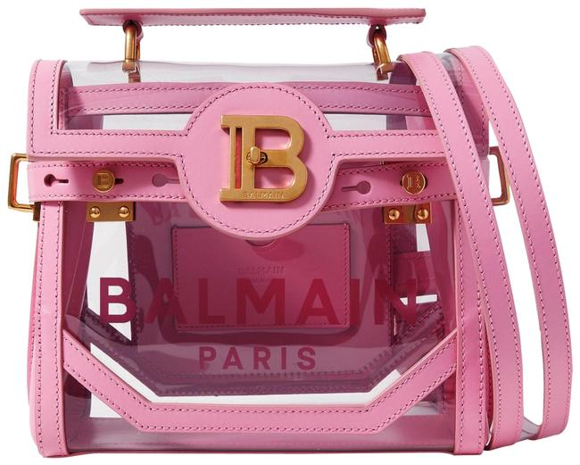 Item - Shoulder B-buzz 23 Leather and Printed Pink Pvc Cross Body Bag
