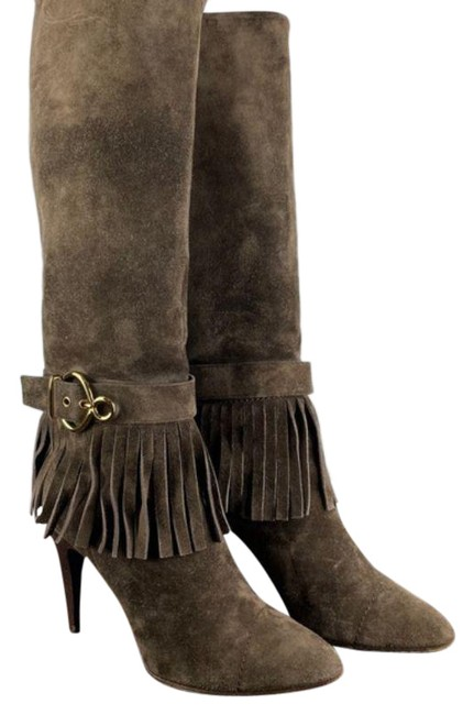Item - Brown Suede Fringe Boots/Booties Size US 9 Regular (M, B)