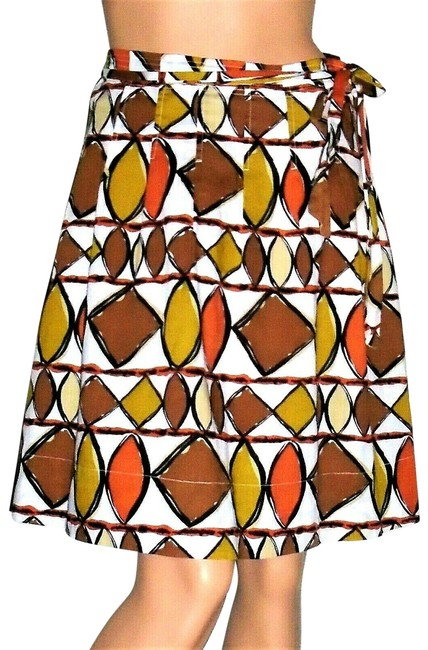 BCBGMAXAZRIA Multi Colored Brown Olive Skirt Size 0 (XS, 25) BCBGMAXAZRIA Multi Colored Brown Olive Skirt Size 0 (XS, 25) Image 1