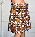 BCBGMAXAZRIA Multi Colored Brown Olive Skirt Size 0 (XS, 25) BCBGMAXAZRIA Multi Colored Brown Olive Skirt Size 0 (XS, 25) Image 6