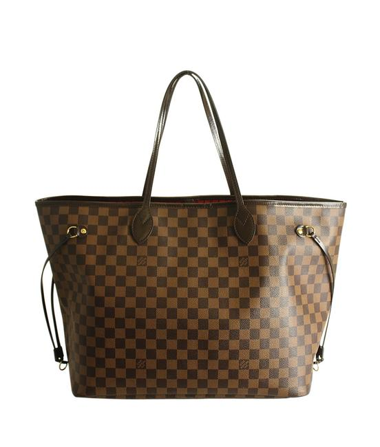 Item - Neverfull Bag N41357 Gm Damier Ebene (194372) Brown Coated Canvas Tote