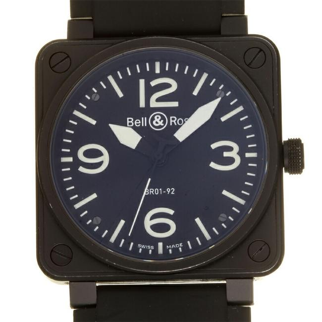 Item - Aviation Men's Br01-92-bl-ca Stainless Steel Black Arabian Dial Watch