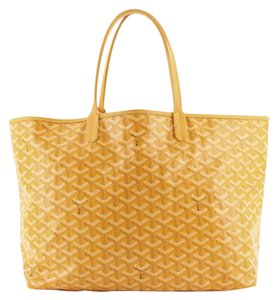 Item - Saint Louis Pm Yellow Coated Canvas Tote
