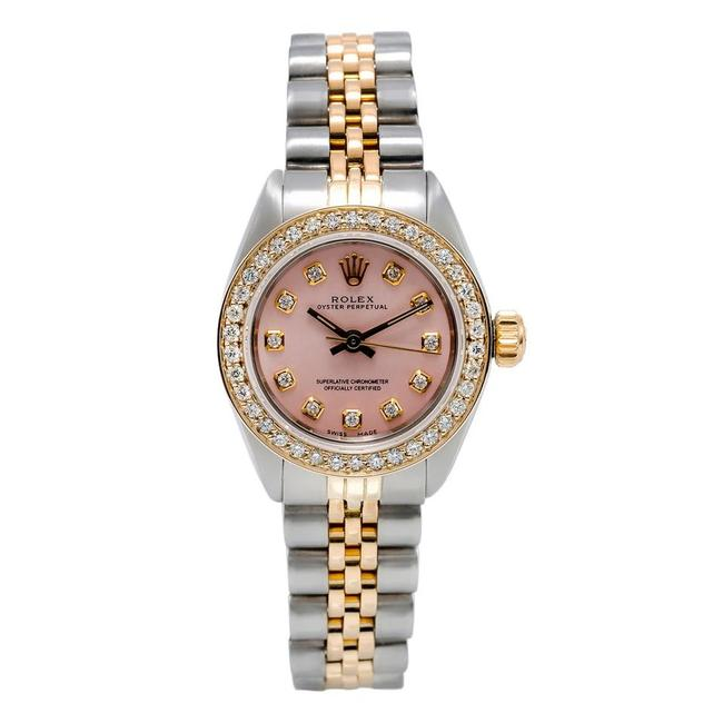Item - Pink Two Tone Oyster Perpetual 26mm Dial with 0.90ct Diamond Bez Watch