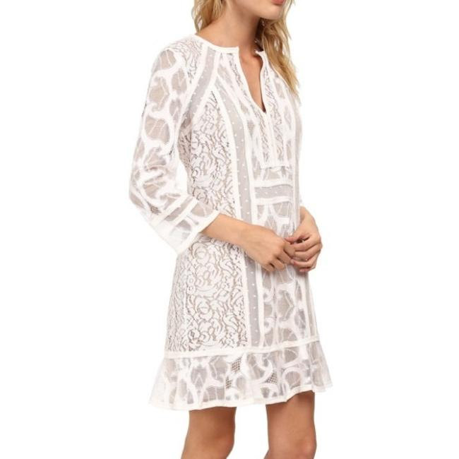 Item - White Sofee Lace Tunic Short Casual Dress Size 8 (M)