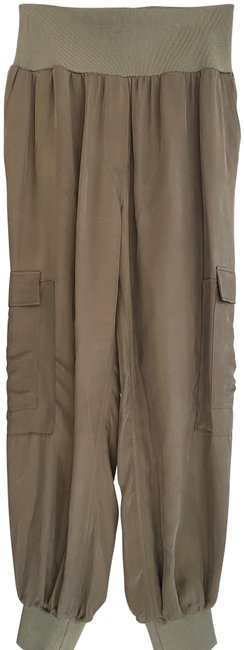 Item - Olive Baggy Lightweight Elastic Waist Wide/Baggy Leg Pants Size 8 (M, 29, 30)