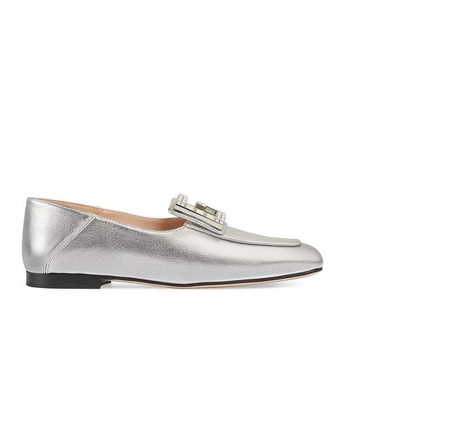 Item - Silver Madelyn Crystal Loafers It Flats Size EU 38 (Approx. US 8) Regular (M, B)