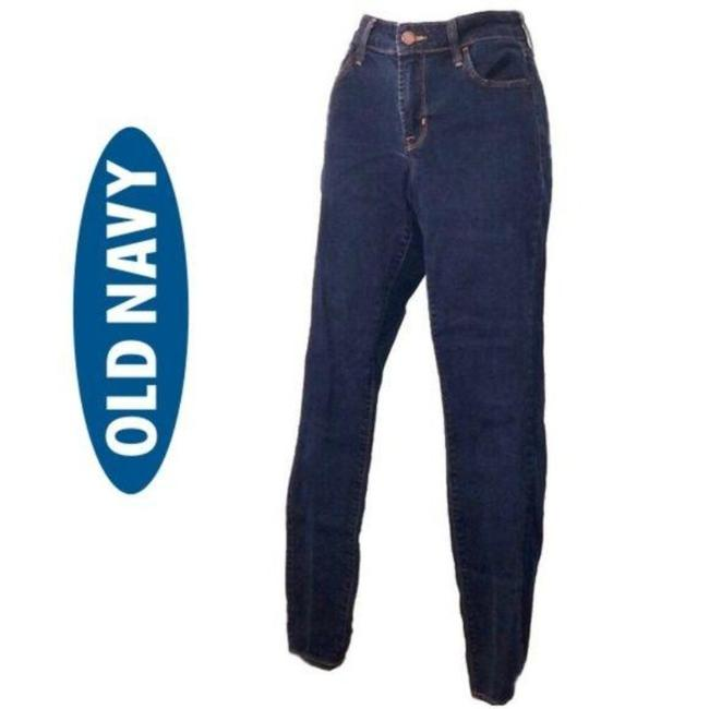 Item - Blue Dark Rinse Rockstar Mid-rise Relaxed Fit Jeans Size 27 (4, S)