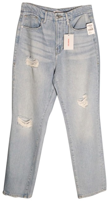 Item - Blue Light Wash Vintage High Waist Distressed New 6 Capri/Cropped Jeans Size 28 (4, S)
