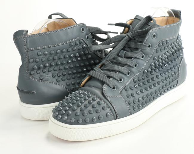 Item - Charcoal Suede Louis Spike High Top Sneakers Shoes