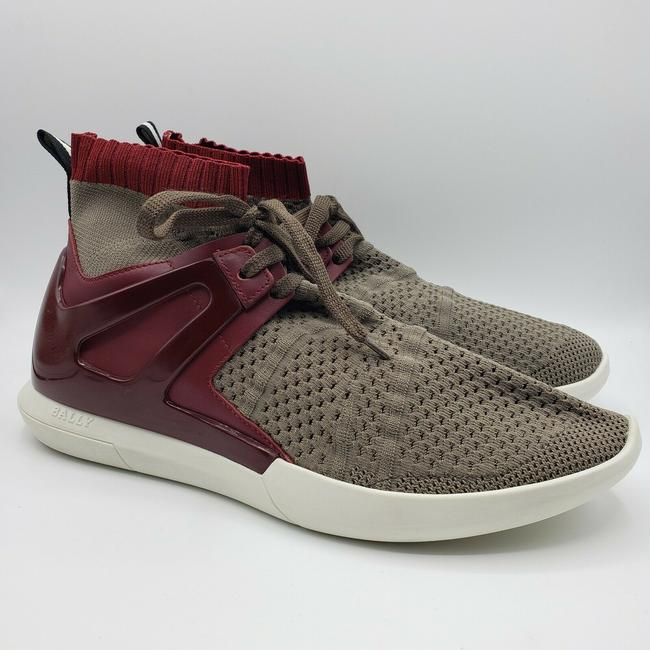 Bally Gray Men's Elastic Fabric Sock Sneaker with Leather/Rubber Back Us 10d Shoes Bally Gray Men's Elastic Fabric Sock Sneaker with Leather/Rubber Back Us 10d Shoes Image 5